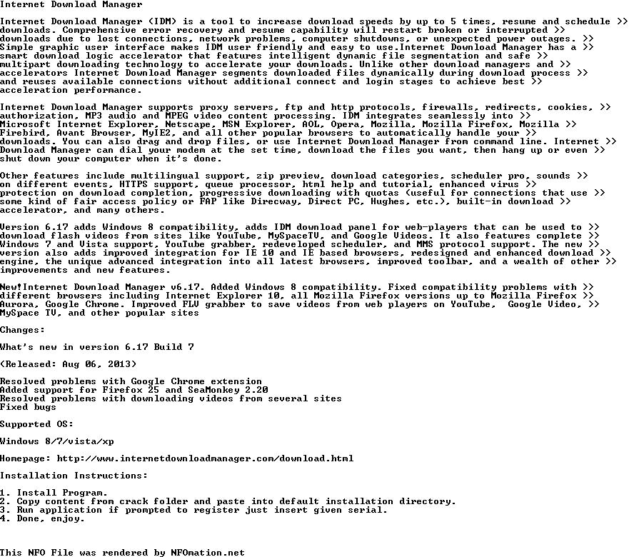 Internet.Download.Manager.v6.17.Build.7 Fully Cracked