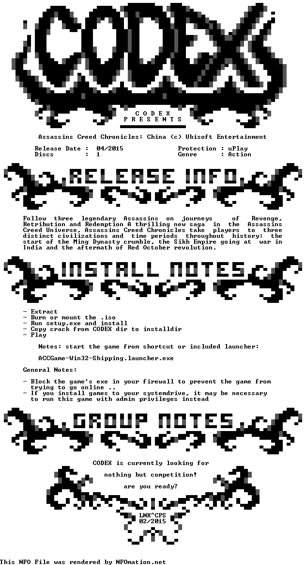 Assassins.Creed.Chronicles.China-CODEX ...حمل 2014,2015 1429636535.codex.nfo