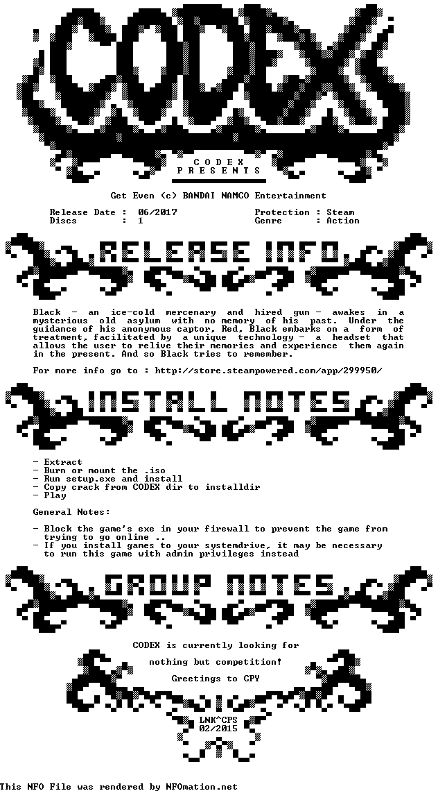 Get.Even-CODEX 2018,2017 1498069682.codex.nfo